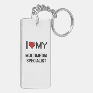 I love my Multimedia Specialist Double-Sided Rectangular Acrylic Key Ring