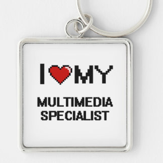 I love my Multimedia Specialist Silver-Colored Square Key Ring