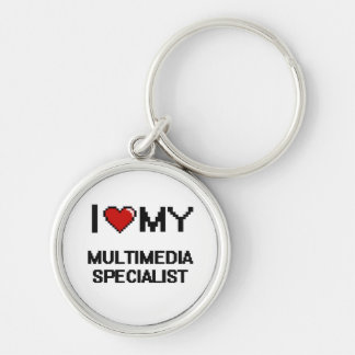 I love my Multimedia Specialist Silver-Colored Round Key Ring
