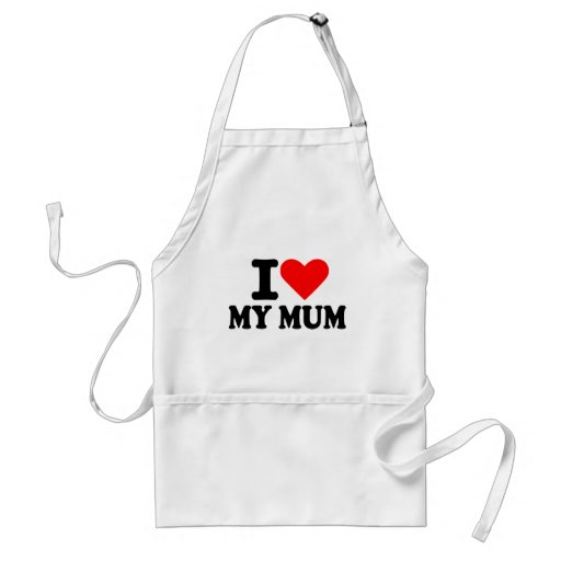 I love my mum aprons