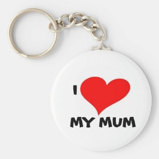 I LOVE MY MUM KEY RING