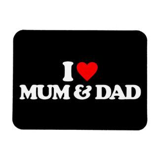 I LOVE MY MUM & DAD RECTANGLE MAGNET