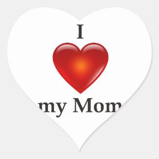 I love my mum heart sticker