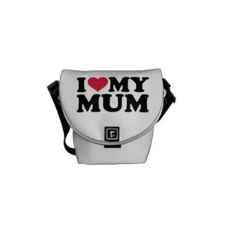 I love my mum messenger bag