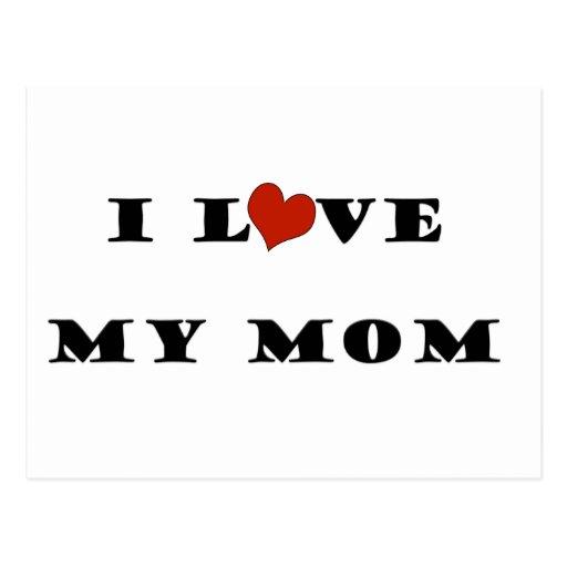 I Love My Mum Postcard