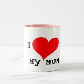 I LOVE MY MUM Two-Tone COFFEE MUG