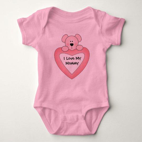 I Love My Mummy baby Baby Bodysuit