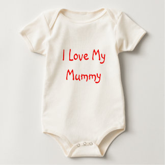 I Love My Mummy Baby Bodysuit