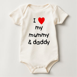 I Love My Mummy & Daddy Baby Bodysuit