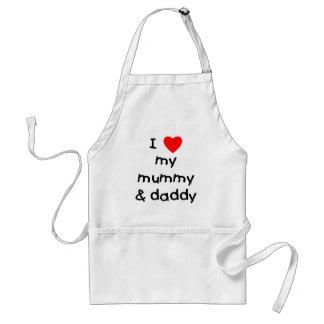 I Love My Mummy & Daddy Standard Apron