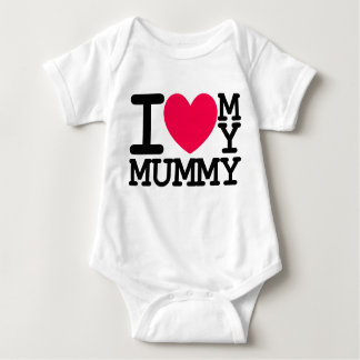 i love my mummy mum mom baby kids design baby bodysuit