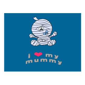 I love my mummy postcard