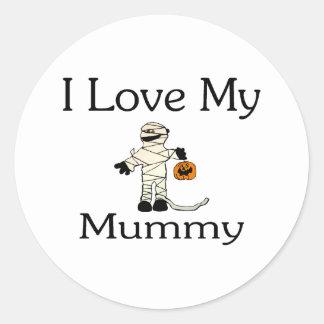 I Love My Mummy Round Stickers