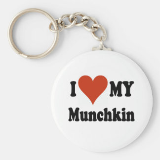 I Love My Munchkin Cat Gifts and Apparel Key Ring