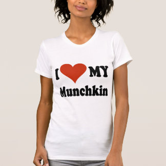 I Love My Munchkin Cat Gifts and Apparel T-Shirt