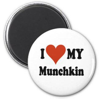 I Love My Munchkin Merchandise 6 Cm Round Magnet