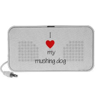 I Love My Mushing Dog iPhone Speaker