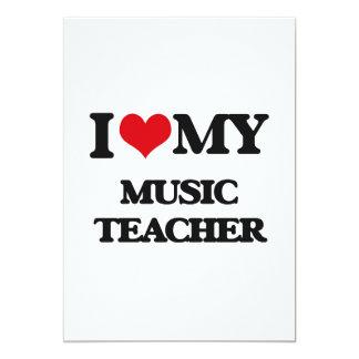 "I love my Music Teacher 5"" X 7"" Invitation Card"