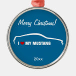I Love my Mustang - Blue