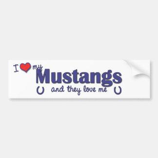 I Love My Mustangs (Multiple Horses) Bumper Sticker