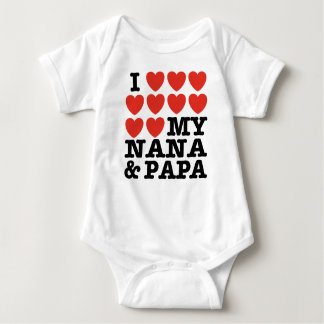I Love My Nana And Papa Baby Bodysuit