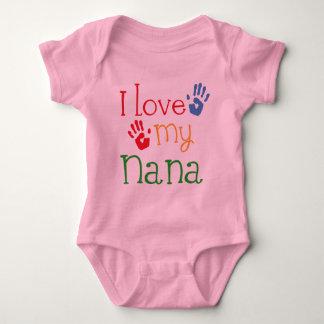 I Love My Nana Handprints Baby Bodysuit