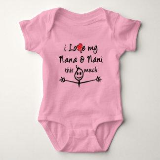 I love my Nana & Nani (Grandma & Grandpa)! Baby Bodysuit