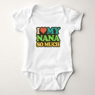 I Love My Nana So Much Baby Bodysuit