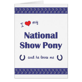 I Love My National Show Pony (Male Pony) Note Card