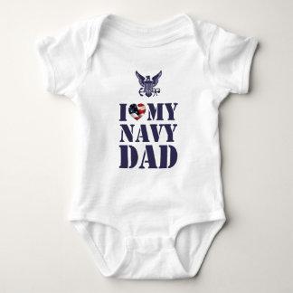 I LOVE MY NAVY DAD BABY BODYSUIT