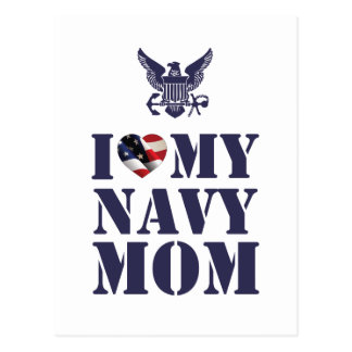 I LOVE MY NAVY MOM POSTCARD