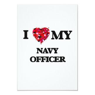 I love my Navy Officer 9 Cm X 13 Cm Invitation Card