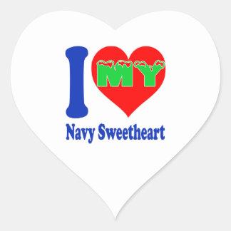 I love my Navy Sweetheart. Sticker
