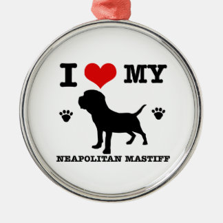 I Love my Neapolitan mastiff Christmas Tree Ornaments