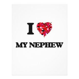 I Love My Nephew 21.5 Cm X 28 Cm Flyer