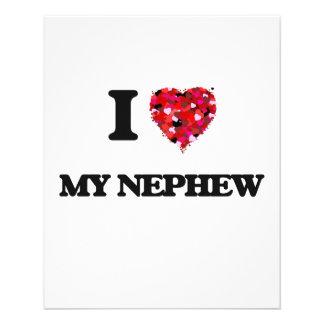I Love My Nephew 11.5 Cm X 14 Cm Flyer