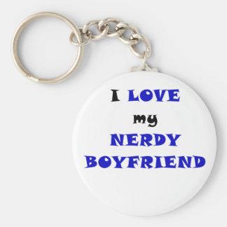 I Love my Nerdy Boyfriend Keychains