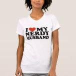 I Love My Nerdy Husband Tee Shirt