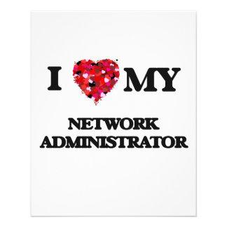 I love my Network Administrator 11.5 Cm X 14 Cm Flyer