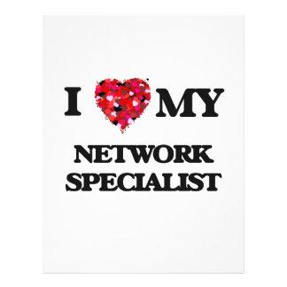 I love my Network Specialist 21.5 Cm X 28 Cm Flyer