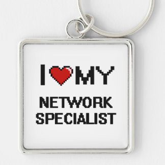 I love my Network Specialist Silver-Colored Square Key Ring