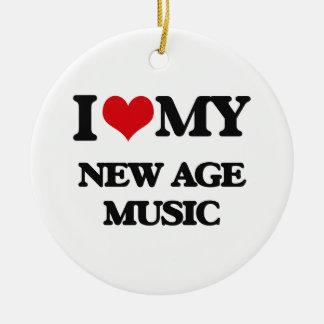 I Love My NEW AGE MUSIC Christmas Tree Ornaments