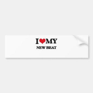I Love My NEW BEAT Bumper Sticker