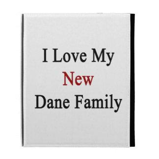 I Love My New Dane Family iPad Folio Cases