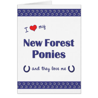 I Love My New Forest Ponies (Multiple Ponies) Note Card