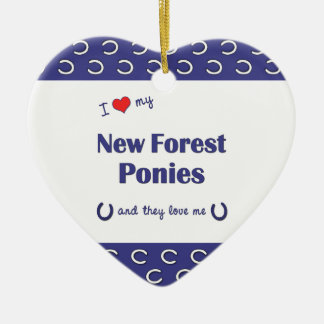I Love My New Forest Ponies (Multiple Ponies) Christmas Tree Ornament