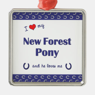 I Love My New Forest Pony (Male Pony) Ornaments