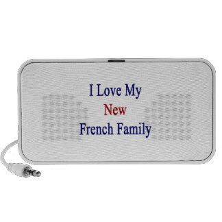 I Love My New French Family iPod Speakers