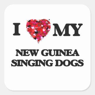 I love my New Guinea Singing Dog Square Sticker