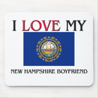 I Love My New Hampshire Boyfriend Mouse Mat